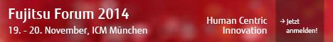 Fujitsu Forum 2014, 19.-20. November, ICM München  Das Fujitsu Forum ist das bedeutendste Event der ICT- Industrie in Europa inkl. einem umfangreichen Programm fürden Public Sector. Es bietet eine herausragende Plattform  für Expertengespräche und Wissenstransfer und verdeutlichtdie strategische Bedeutung der IT-gestützten Modernisierung von Staat und Verwaltung mit dem Ziel, nutzerorientierte  E-Government-Angebote zu schaffen. Zahlreiche Best Practices verdeutlichen, welchen Mehrwert öffentliche und private  Kunden aus Big Data, Mobility, Kollaboration und Cloud ziehen können und wie sich effiziente und vor allem auch sichere E-Government-Dienstleistungen aufbauen lassen. Hier erfahren Sie mehr und können sich direkt anmelden: www.fujitsu.com/de/fujitsuforum