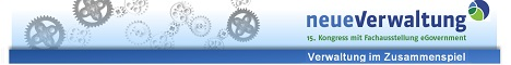 """Kongress """"neueVerwaltung"""" Frühbucherrabatt sichern  Noch bis zum 31. März können sich Frühbucher zum Preis von 380 Euro für den 15. Kongress neueVerwaltung anmelden (6. und 7. Mai 2014, CCL in Leipzig). Danach beträgt die Teilnahmegebühr 450 Euro. Das diesjährige Motto lautet """"Verwaltung im Zusammenspiel"""". Schirmherr der Veranstaltung ist Stanislaw Tillich, Ministerpräsident des Freistaates Sachsen.  Im Forenstrang """"Kommunale Netzwerke"""" zeigt die Veranstaltung Möglichkeiten des Zusammenspiels von Social Media, Mobile Government und E-Partizipation auf.   Mehr Informationen unter www.neueVerwaltung.de"""