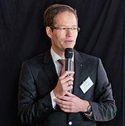 Geschäftsführer Bremkamp auf dem ab-data-Kundentag.
