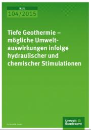 Laut der vom Umweltbundesamt (UBA) in Auftrag gegebenen Studie birgt die Tiefengeothermie keine nicht beherrschbaren Umweltrisiken.