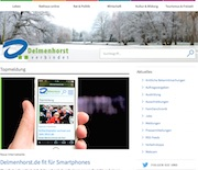 Modern, übersichtlich und responsive präsentiert sich die Stadt Delmenhorst im Internet.