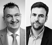 Dirk Andres, Stabsstelle Asyl der Stadt Kaiserslautern (l.) und Alexander Fridhi, Geschäftsführer UplinkIT