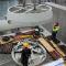 Ende Oktober 2015 wurde die erste Very-Low-Head-Turbine in das neue Kraftwerksgebäude an der Iller gehoben.