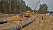 Leitungsbauarbeiten in der Lausitz: Ferngasleitung ist in Betrieb.
