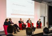 """Führungskräfteforum Innovatives Management: Podiumsdiskussion zum Thema """"Agilität versus Stabilität""""."""