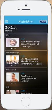 Die Stadtwerke-App äppes versorgt den Nutzer mit Nachrichten und Wetterauskünften, Veranstaltungstipps, Vereinsnews und Angeboten des Einzelhandels.