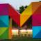 Ein großes buntes M ist das Firmenlogo der Mainzer Stadtwerke AG.