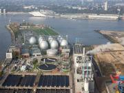 Am Klärwerk Hamburg könnte Heizwärme aus Wärmepumpen gewonnen werden.