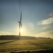 Das Bürgerwindrad in Münster-Amelsbüren gehört den Mitgliedern der Genossenschaft Unsere Münster-Energie eG.