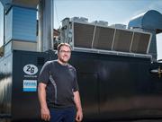 Andreas Schneider erzielt mit dem 2G Biogas-BHKW und nachgeschaltetem ORC-Modul ein Maximum an elektrischem Wirkungsgrad.