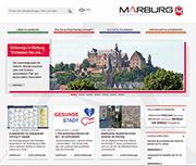 Stadtportal Marburg: Aufmacher-Bilder mit Slider-Technik.