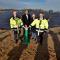 Der Anbau des Solarparks Herzogenrath wurde jetzt mit einem symbolischen Knopfdruck offiziell eingeweiht.