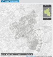 Eine Übersichtskarte zeigt etwa die geförderten Konzepte kommunaler Klimaschutzaktivitäten.