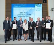 """Die diesjährigen Gewinner des Wettbewerbs """"Innovation schafft Vorsprung"""" für öffentliche Auftraggeber."""