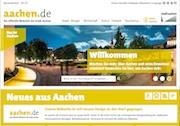 Die neue Website der Stadt Aachen ist ganz im städtischen Gelb gehalten.