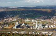 Block 1 des Kraftwerks Altbach/Deizisau (links) soll stillgelegt werden.