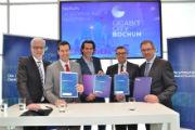 Die Initiative Gigabit-City Bochum wurde auf der CeBIT vorgestellt.