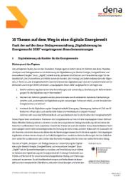 Aus dem dena-Projekt Digi4E heraus sind 15 Thesen zur Digitalisierung der Energiebranche entstanden.