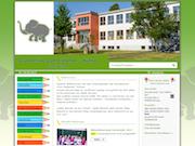 Der Elefant als dominates Logo darf natürlich auf der Website der Grundschule Zum Elefanten nicht fehlen.