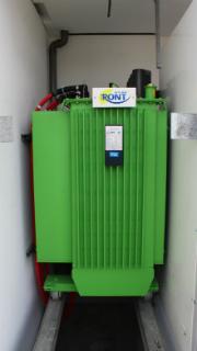 Der regelbare Trafo R-ONT der Firma SBG wird im Kreis Ravensburg erstmals mit Pflanzenöl betrieben.