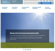 Deutsche Emissionshandelsstelle: Neue Website auf Basis des Government Site Builders Version 7.1.