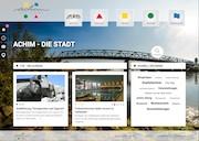 Auf einen Blick wissen, was los ist: Die neue Website der Stadt Achim ist klar strukturiert.