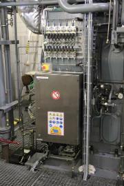 Der alte Schaltschrank im Blockheizkraftwerk der Deutschen Bundesbank wurde durch ein neues Steuerungssystem ersetzt.