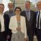 Die neue ABO Wind-Aufsichtsrätin Eveline Lemke umrahmt von ihren Kollegen.