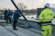 Während der Bauarbeiten: Der WEMAG-Batteriespeicher bekommt seine Betondecke.