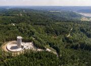 Baufortschritt beim Naturstromspeicher Gaildorf: Windkrafttürme speichern das Wasser in ihrem Inneren.