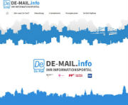 De-Mail-Infoportal listet die Teilnehmer auf.