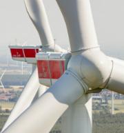 Gesamtansicht des Windparks Kölsa.