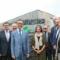 Enthüllung des Firmenlogos der Landwerke Eifel am Firmensitz in Prüm.