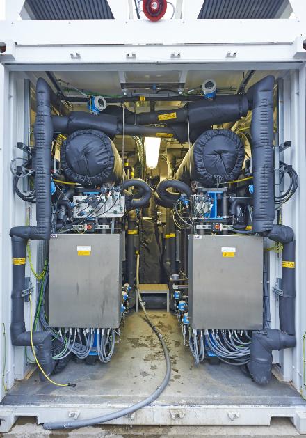 Einspeiseeinheit der Power-to-Gas-Anlage in Frankfurt am Main.