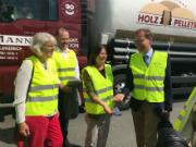 Besuch von Ministerin Höfken bei den Westerwälder Holzpellets.