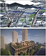 Projektgebiet Berlin Mitte und Siegermodell Gropiusstadt.