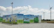Braderup ist Energiekommune des Monats. Eine Hybridbatterie speichert hier den Windstrom aus einem Bürgerwindpark.