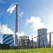 Im Heizkraftwerk Chemnitz wird per Kraft-Wärme-Kopplung Strom und Wärme erzeugt.
