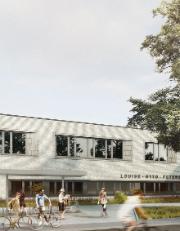 Die Louise-Otto-Peter-Schule in Hockenheim wurde als Effizienzhaus Plus Schule gebaut. Sie erzeugt einen jährlichen Überschuss von 4,21 kWh pro Quadratmeter und Jahr.
