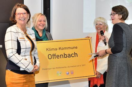 Preisverleihung: Offenbacher Projekte des nachhaltigen Mobilitätsmanagements wurden ausgezeichnet.