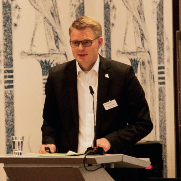 Michael Klumpe, Allgemeiner Vertreter des Bürgermeisters der Stadt Diepholz, präsentierte auf dem Infotag E-Government einen praktischen Leitfaden für die Planung eines Relaunches.
