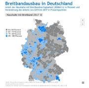 Anteil der Haushalte mit Breitband-Verfügbarkeit (50 Mbit/s) in Deutschland in Prozent.