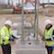 In Niedersachsen wurde der Bau der 380-kV-Höchstspannungsleitung begonnen, die Windstrom nach Nordrhein-Westfalen transportieren soll.