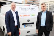 Die Geschäftsführer der neuen Netzgesellschaft Regionetz: Axel Kahl (l.) und Stefan Ohmen.