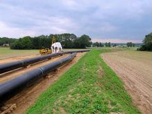 Der Bau der Erdgasfernleitung von Epe-Legden in Nordrhein-Westfalen startet.