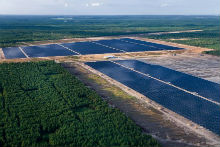 Der Solarpark Lieberose im brandenburgischen Turnow-Preilack wurde von juwi errichtet.