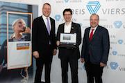 Präsentieren den Kreis Viersen auf Immobilienscout24: Landrat Dr. Andreas Coenen, Dirk Kracht von ImmobilienScout24 und WFG-Geschäftsführer Dr. Thomas Jablonski (v.l.).