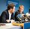 In Kiel haben Ministerpräsident Daniel Günther (2.v.l.) und Digitalisierungsminister Jan Philipp Albrecht die neuen Digitalisierungspläne der Landesregierung vorgestellt.