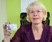 OB Angelika Gramkow freut sich auf den nPA-Einsatz.