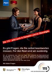Regionalisierte Poster sollen die 115 im Allgäu bekannt machen.